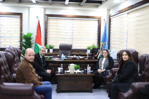 Rasha Ajalyaqeen, the VIP.fund board member with Zarqa University team