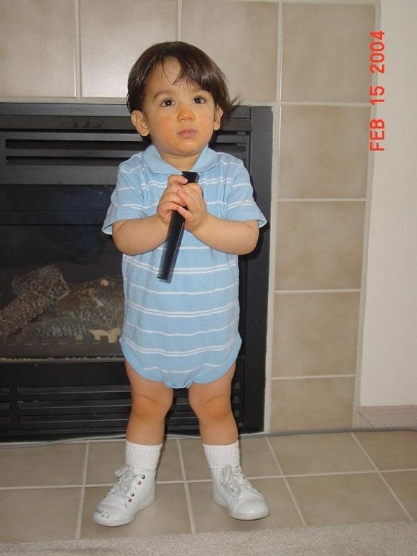 Faris when he was a kid