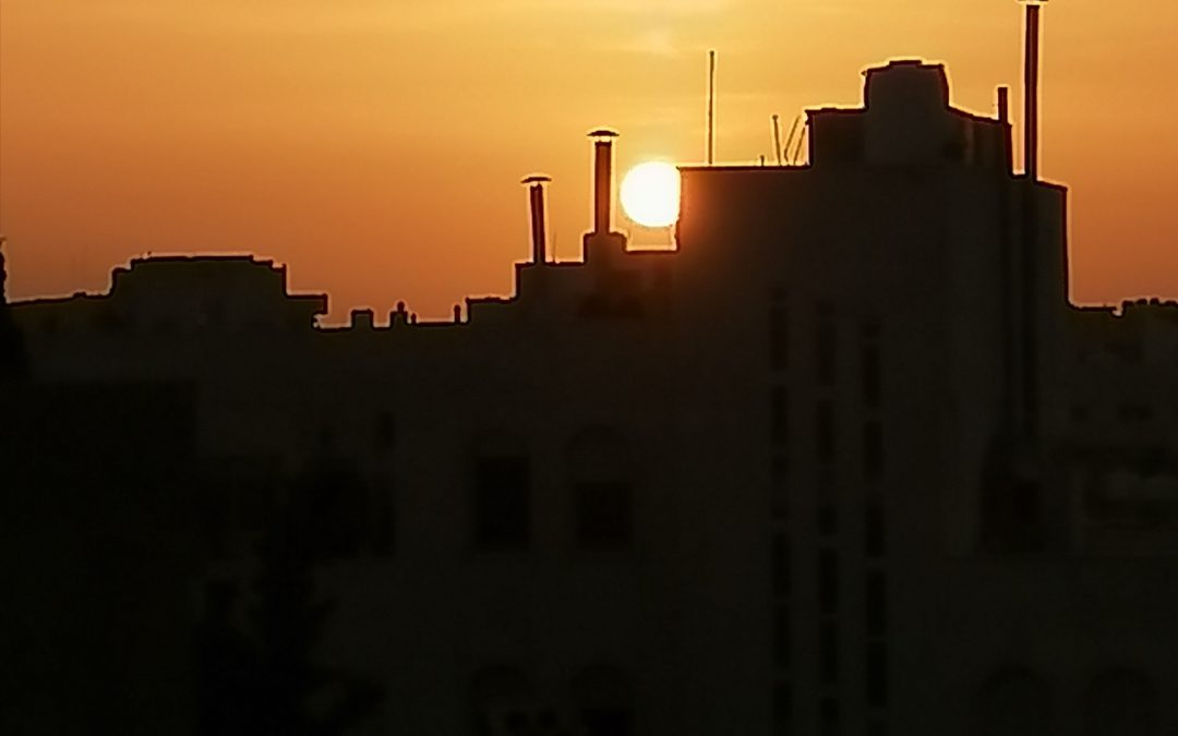 Sunset in Irbid/Jordan