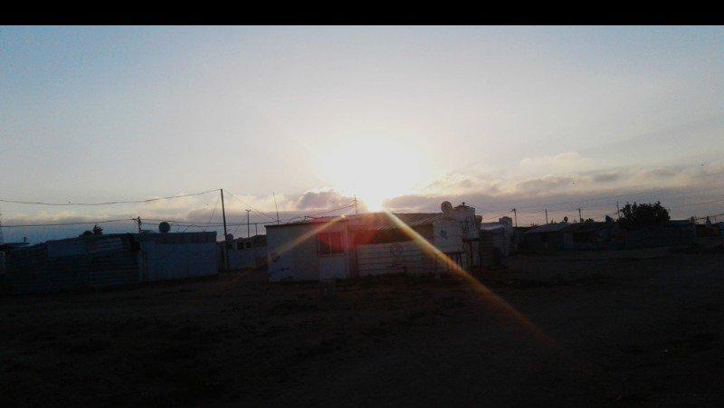 The sunset in Al-Zaatari Camp