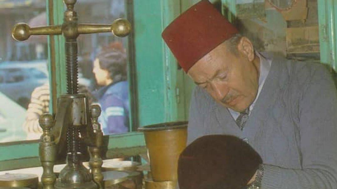 A man making a Fez